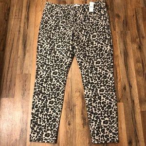 Loft Animal Print Skinny Jeans